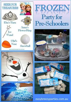 Tahlia's 4th birthday 'Frozen' party - Lots of Disney Frozen themed party games to suit pre-school aged children. Read the blog at http://easybreezyparties.com.au/party-inspiration-and-ideas/item/65-tahlia-s-frozen-4th-birthday-party.html  #frozen #easybreezyparties