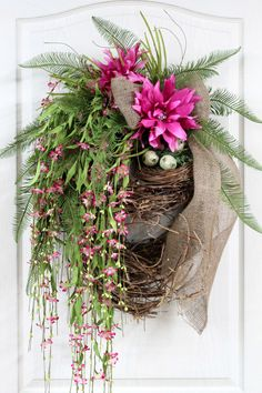 Summer Wreath Front Door Wreath Spring Wreath by FloralsFromHome
