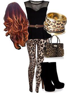 """""""leopard!!"""" by azalia101 on Polyvore"""