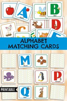 Alphabet Matching Cards Memory Game Printable #preschool #preschoolers #prek #alphabet #abc #memorygame #homeschool #homeschooling #daycare #printable #ad