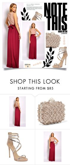 """""""Desir Vale 2"""" by amra-mak ❤ liked on Polyvore featuring Jimmy Choo, Giuseppe Zanotti, Rebecca Minkoff, DesirVale and plus size dresses"""