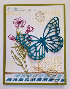 Card Bomb by Maria Willis: Butterfly Thinlits & Butterfly Basics from Stampin...