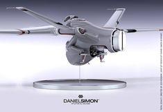Tron: Legacy | Light Jet. Final Design Model by Daniel Simon