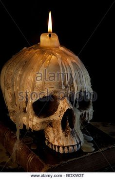 Image result for skull with candle