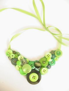 St. Patrick's Day Button Necklace