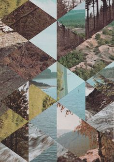 Inspired by Mountains: Geometric collage art with nature by Jelle Martens