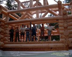 Those that make it happen. The crew from John DeVries Log Homes  #loghomes #loghomedesign #logconstruction #ontariowaterfront  For more photos or this or any other or my homes, please check out my website, www.designma.com, my Design Page, www.facebook.com/loghomedesign, or Pinterest, http://www.pinterest.com/murrayarnott/murray-arnott-design