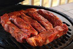 NMT Pork Chop Dry Rub ~~~  Ingredients ~ 1/4 c white sugar ~ 1/4 c turninado sugar ~ 1/4 c smoked paprika ~ 2 TBS garlic salt ~ 2 TBS kosher salt ~ 1 tsp black pepper, smoked ~ 1 tsp cayenne ~ 1 tsp cumin ~ 1/4 tsp allspice ~ 1/2 tsp dried thyme