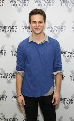 Brandon Flynn at an event held at Vineyard Theatre in 2016...