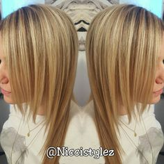 Blondy blondy... Half head and ombre mix.   #hair #haircut #hairstylist #highlights #longhair #shorthair #colorful #color #ombre #balayage #torontohairstylist #toronto #stylist #tattoo #l4l #fitness #fitmom #work #workout #independent  #invertedbob #sexy #confidence #love #girl #oakville #salon #niccistylez