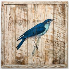 Cottage Blue Bird Art (11.471.845 IDR) ❤ liked on Polyvore featuring home, home decor, wall art, wooden wall art, wood wall art, blue bird wall art, wood home decor and cottage home decor