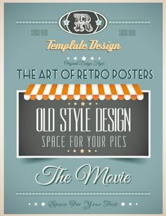 Download Free Vintage Promotional Poster Vector Template Design 05 under the free Vector Background category(ies) at TitanUI.CoM!