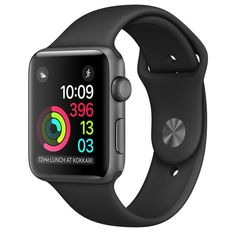 online shopping for Refurbished Apple Watch Series Space Gray Aluminum Case Black Sport Band from top store. See new offer for Refurbished Apple Watch Series Space Gray Aluminum Case Black Sport Band Apple Watch 42mm, Apple Watch Series 3, Apple Watch Gen 2, Ios Apple, Apple Uk, Apple Iphone, Apple Help, Apple Watch Space Grau, Fitness Tracker