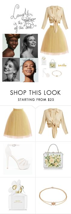 """Laughter & Happyness"" by mellylibra on Polyvore featuring Marc Jacobs, ADRIANA DEGREAS, New Look, Dolce&Gabbana, Lee Renee, happy and smile"