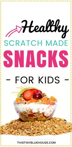 Simple recipes to make scratch made healthy snacks for the whole family. These recipes are kid and adult friendly and super simple snacks to put together and keep on hand for those times when hunger strikes snack recipes Cheap Healthy Snacks, Healthy Snack Options, Simple Snacks, Simple Recipes, Quick Snacks, Healthy Kids, Gourmet Recipes, Snack Recipes, Healthy Recipes