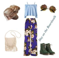 """""""Day on the boardwalk """" by zbythesea ❤ liked on Polyvore featuring Sandy Liang, Dolce&Gabbana, JJ Footwear and Billabong"""