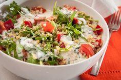 Mozarellás bulgur saláta