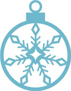 Silhouette Online Store - View Design #14468: snowflake ornament