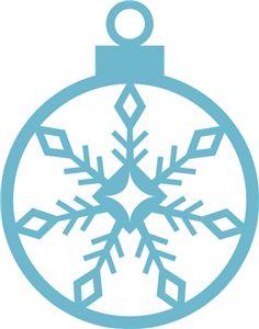 Silhouette Online Store - View Design #14468: snowflake ornament