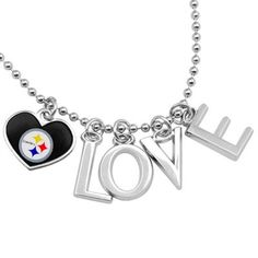 Touch by Alyssa Milano Pittsburgh Steelers Love Necklace with Heart Team Logo #UltimateTailgate #Fanatics