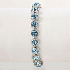 Aquamarine Ice Bracelet - Touchstone Crystal Online Shop #Sparkle #Swarovski #Crystal