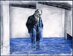 I love the work of William Kentridge. Here is a drawing from the Stereoscope (animation) Art And Illustration, William Kentridge Art, South African Artists, Art Graphique, Fine Art, Museum Of Modern Art, Art Museum, Animation Film, Banksy