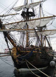 Swedish East Indiaman Ship Götheborg (replica of 1738, that did 3 journeys to China) in Fremantle, Western Australia, 2006.