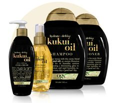 Kukui nut oil blend creates a shimmery gloss that keeps the frizz out so you can shine on.