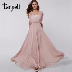 d129206f686 Tanpell v neck long prom dress sexy pink sleeveless lace floor length a  line dresses cheap women party formal evening prom gown