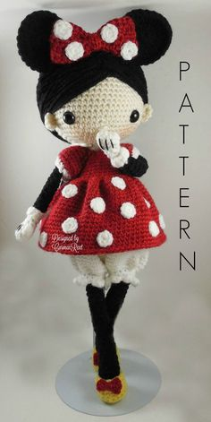 Minnie Amigurumi Doll Crochet Pattern PDF by CarmenRent on Etsy ♡ lovely doll such a sweet looking Minnie Mouse costumed doll pattern! CAUTION- Keep in mind that this is a crocheted pattern in a … Amigurumi Doll Softies Crochet Free Patterns By Lumi [ Crochet Amigurumi, Crochet Doll Pattern, Amigurumi Patterns, Amigurumi Doll, Doll Patterns, Knitting Patterns, Crochet Patterns, Crochet Motif, Cute Crochet