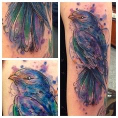 watercolor style swallow Artist: Crystal Martinez Chicago, IL