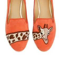Giraffe Suede Smoking Slippers | Spotted on Keep