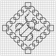 Blackwork scarab free chart