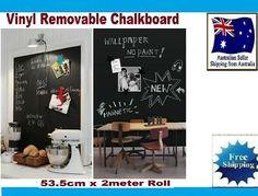 Blackboard Removable Vinyl Wall Self Adhesive Chalkboard Decal Paper Sticker    eBay Chalkboard Markers, Chalkboard Vinyl, Magnetic Toys, Magnetic Letters, Liquid Chalk Pens, Kids Magnets, Wooden Alphabet, Framed Fabric