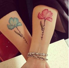 female tattoo - sisters - Tattoo World Girly Tattoos, Tattoos Bein, Bff Tattoos, Family Tattoos, Pretty Tattoos, Mini Tattoos, Body Art Tattoos, Cool Tattoos, Tatoos