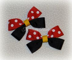 Minnie Mouse Bows  Small Minnie Mouse Bows  Red Polka Dot