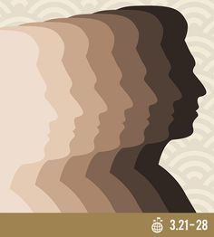 Week of Solidarity with the Peoples Struggling against Racism and Racial Discrimination - International Days - Global Issues International Days, March 21st, Charity, Art Drawings, Psychology, Silhouette, People, Psicologia, People Illustration