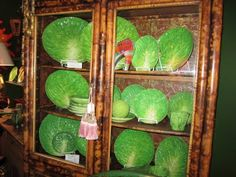 Dodie Thayer Lettuceware, cool looking Palm Beach Pottery, might be nice to hang plates on Dining Room walls