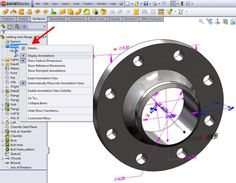 Show annotations and Dimension name in SolidWorks