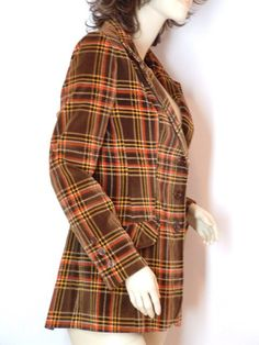 Vintage 70s Autumn Velvet Plaid Blazer Jacket. Really liking this and a great price too: $25.00