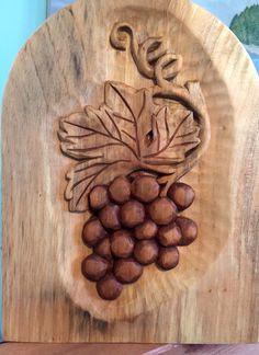 Relief carved grape vine. Elizabeth Brown, Liverpool, NS