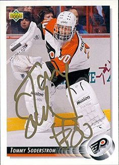Signed Soderstrom, Tommy (Philadelphia Flyers) 1992 Upper Deck Hockey Card autographed -- Awesome products selected by Anna Churchill