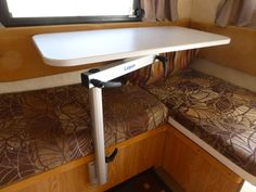Lagun Table Mount - RV Caravan - Swivel & Adjustable Height Table Pedestal NEW Tiny Camper, Small Campers, Bus Camper, Benz Sprinter, Rv Table Ideas, Motorhome, Camper Table, Camper Interior Design, Van Interior