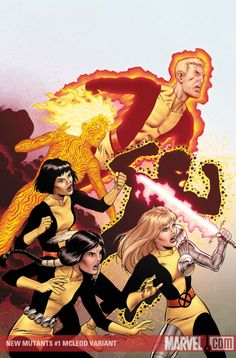 NEW MUTANTS #1 Written by ZEB WELLS Penciled by DIOGENES NEVES Cover by ADAM KUBERT 50/50 Cover by ALEX ROSS Variant Cover by BOB MCLEOD