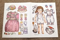 Antique Victorian Doll Paper Doll by Evelyn Gathings 1993 Mag Color Plate | eBay