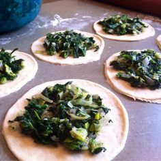Spinach fatayir are a family favorite. My husband& grandmother made legendary fatayir, and while her recipe may be lost forever, m. Lebanese Meat Pies, Lebanese Recipes, Greek Recipes, Raw Food Recipes, Veggie Recipes, Vegetarian Recipes, Cooking Recipes, Lebanese Cuisine, Spinach Fatayer Recipe