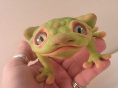 bad day frog ... ooak poseable art doll  .. faires ... elves ... gnomes ... and the like by Dinkydarlings
