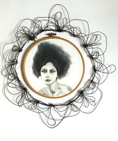 Hoop portrait   girl with black hair  Big hair  by morphingpot