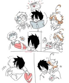 Norman x Emma The promised neverland - Feliz San Valentin! Norman, Anime Manga, Anime Art, Dibujos Anime Chibi, Shingeki No Bahamut, Pokemon, Yandere, Neverland, Little Pony