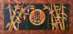 Jess Fragoso Abstracte Schilderijen: BAMBOE